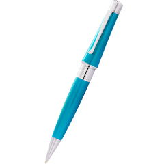 Cross Beverly Ballpoint Pen - Translucent Teal-Pen Boutique Ltd