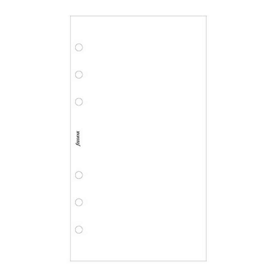 Filofax Personal White Plain Notepaper Value Pack (100)