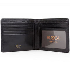 Bosca Old Leather Black Executive ID Wallet