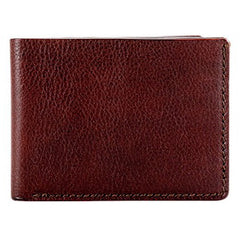 Bosca Washed Small Bifold Wallet - Dark Brown