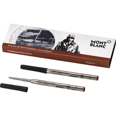 Montblanc Ballpoint Refill - Writers Edition - Antoine de St. Exupery - Medium - 2 Pack