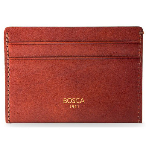 Bosca Washed Weekend Wallet - Cognac