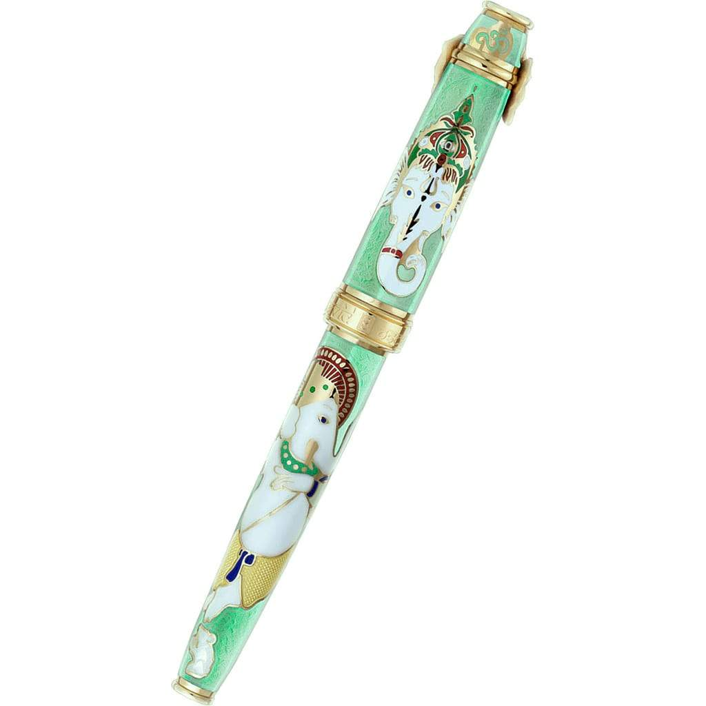 David Oscarson Lord Ganesha Rollerball Pen - Mint Green-Pen Boutique Ltd