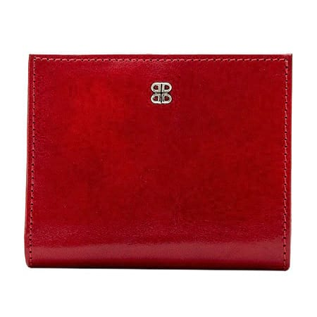 Bosca Old Leather Brick Red Petite French Purse