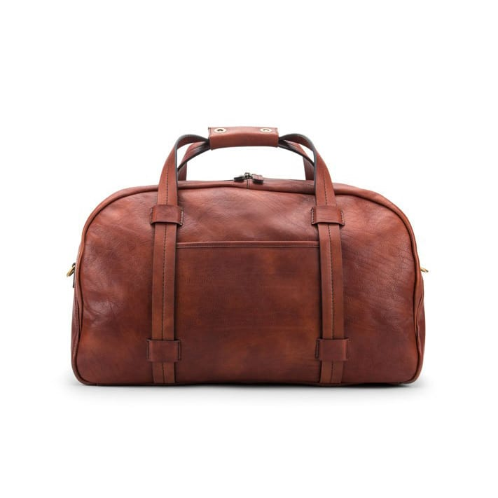 Bosca Washed Brown/Dark Brown Duffel