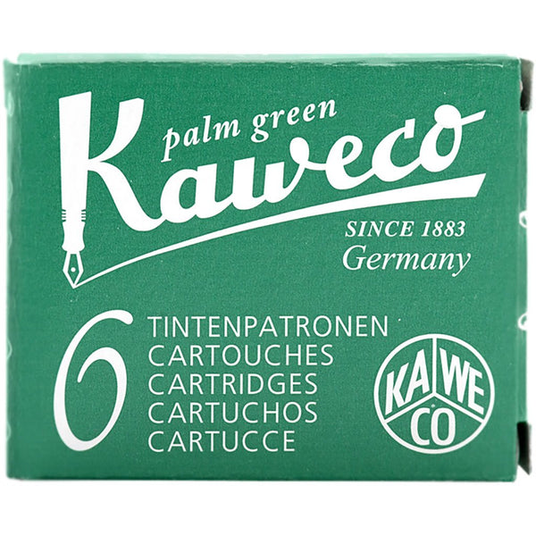 Kaweco Ink Cartridges - 6 pieces - Palm Green