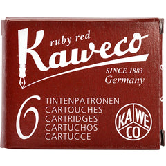 Kaweco Ink Cartridges - 6 pieces - Ruby Red-Pen Boutique Ltd