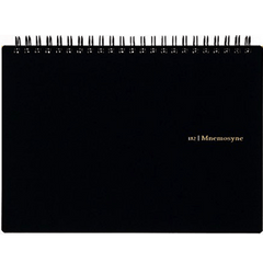 Maruman Mnemosyne Notebooks - Black - Grid - A5-Pen Boutique Ltd