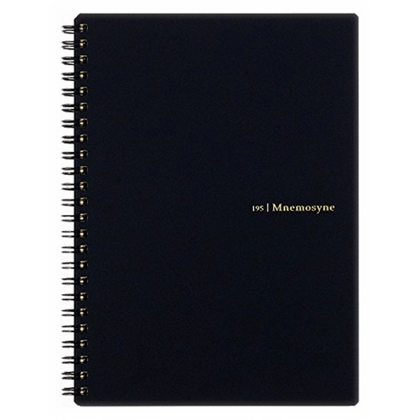 Maruman Mnemosyne Notebooks - Black - Lined - A5-Pen Boutique Ltd