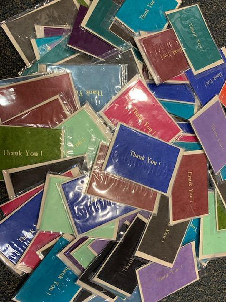 Monk Paper Thank You Card (Assorted colors) - 10pk-Pen Boutique Ltd