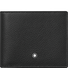 Montblanc Meisterstuck Wallet - Soft Grain Black (6CC)-Pen Boutique Ltd