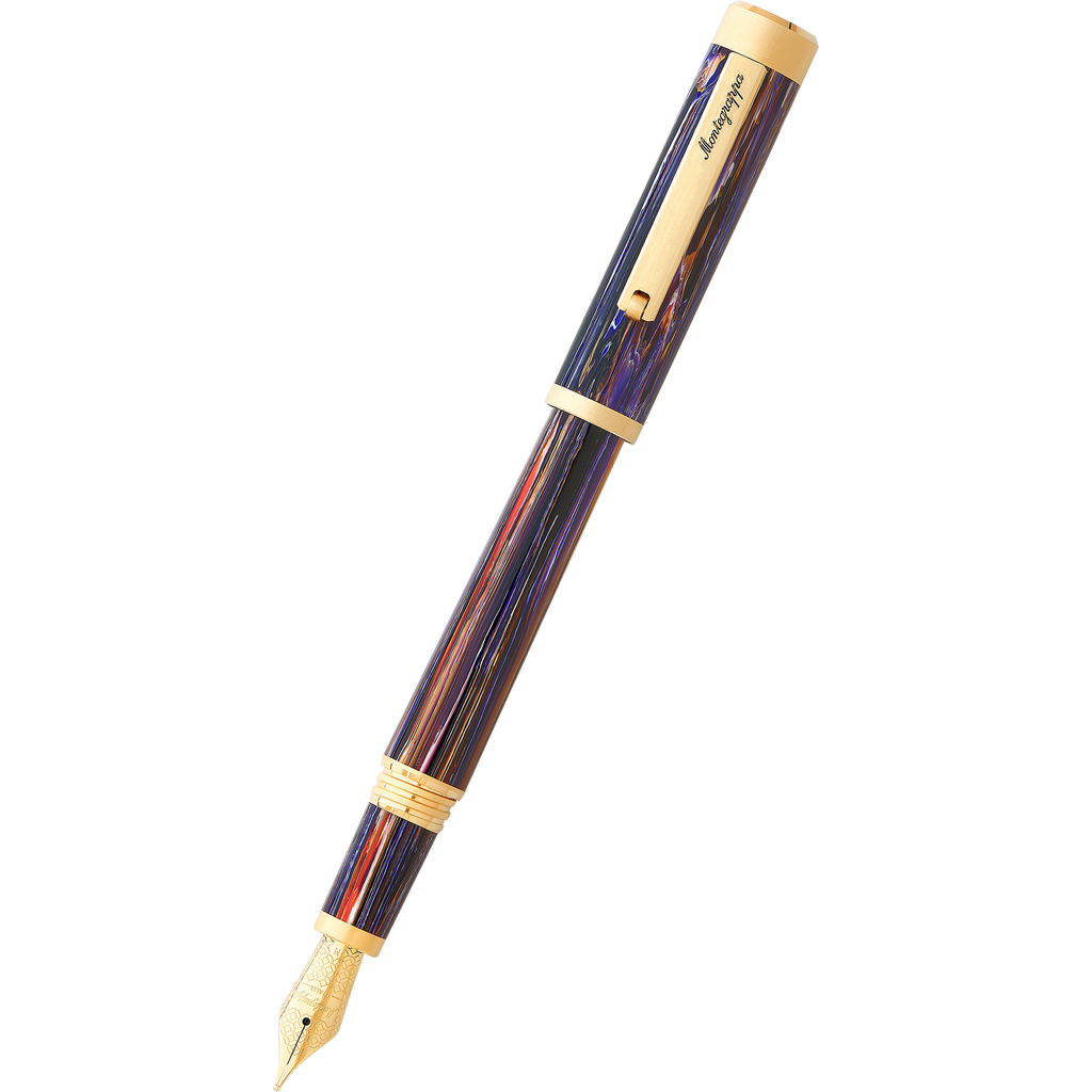 Montegrappa ZERO Cityscape Fountain Pen - Meteor Shower-Pen Boutique Ltd