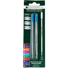 Monteverde Ballpoint refill to fit Cross pen - Blue Medium 2 per pack-Pen Boutique Ltd