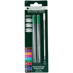 Monteverde Ballpoint refill to fit Cross pen - Green Medium 2 per pack-Pen Boutique Ltd