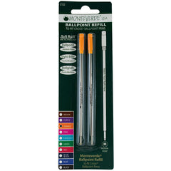 Monteverde Ballpoint refill to fit Cross pen - Orange Medium 2 per pack