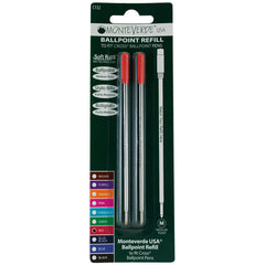 Monteverde Ballpoint refill to fit Cross pen - Red Medium 2 per pack-Pen Boutique Ltd