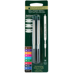 Monteverde Ballpoint refill to fit Lamy pen - Black Medium 2 per pack-Pen Boutique Ltd