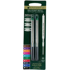 Monteverde Ballpoint refill to fit Lamy pen - Green Medium 2 per pack-Pen Boutique Ltd