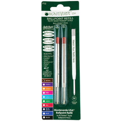 Monteverde Ballpoint refill to fit Parker pen   Brown  Medium  2/pack