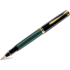 Pelikan Souveran Rollerball Pen - R600 Black/Green-Pen Boutique Ltd