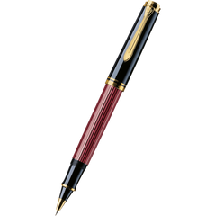 Pelikan Souveran Rollerball Pen - R600 Black/Red-Pen Boutique Ltd