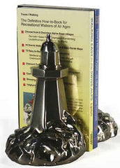 PM Craftsman Lighthouse Silver Bookends