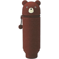 Punilabo Silicone Stand Up Pen Cases - Brown Bear-Pen Boutique Ltd