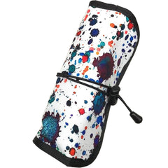 Rickshaw Deluxe Pen Roll - Ink Splatter (6 Pens)-Pen Boutique Ltd