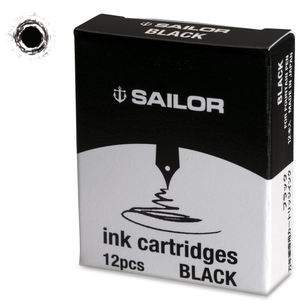 Sailor Jentle Black Ink Cartridge-Pen Boutique Ltd