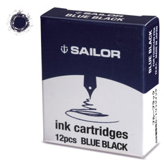 Sailor Jentle Blue Black Ink Cartridge-Pen Boutique Ltd