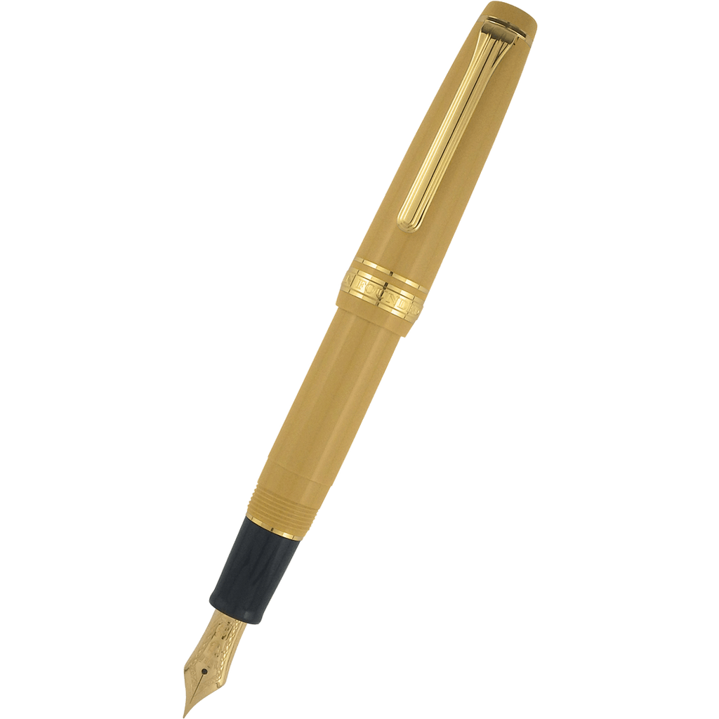 Sailor Professional Gear Slim Mini Fountain Pen - Mustard Yellow - 14K Gold Trim (North America Exclusive)-Pen Boutique Ltd