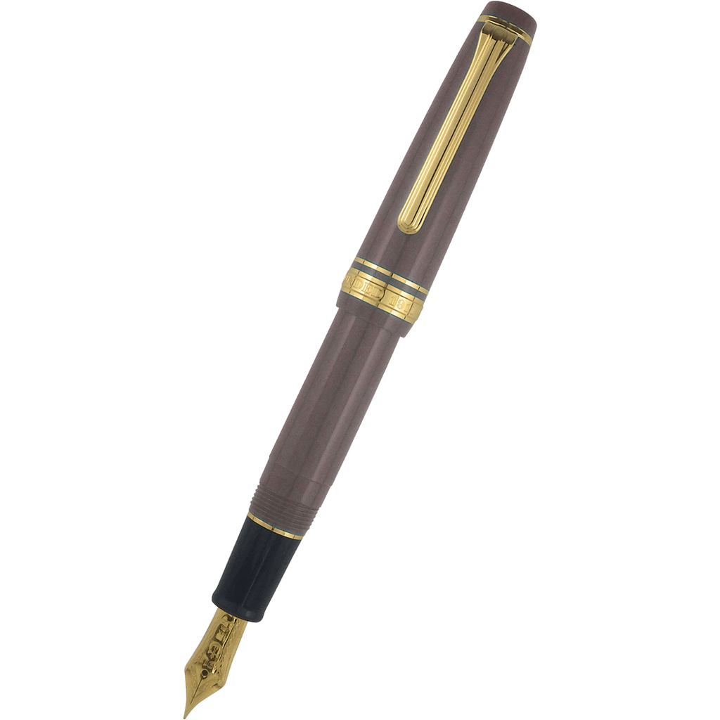 Sailor Professional Gear Slim Mini Fountain Pen - Taupe - 14K Gold Trim (North America Exclusive)-Pen Boutique Ltd