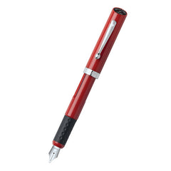 Sheaffer Calligraphy Red Nickel Plated Trim Fountain Pen - Fine