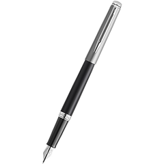 Waterman Hemisphere21 Fountain Pen - Matte Black - Chrome Trim-Pen Boutique Ltd