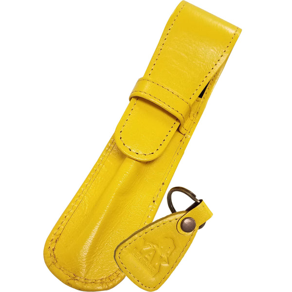 Yak Leather Single Case with Flap - Limoncello