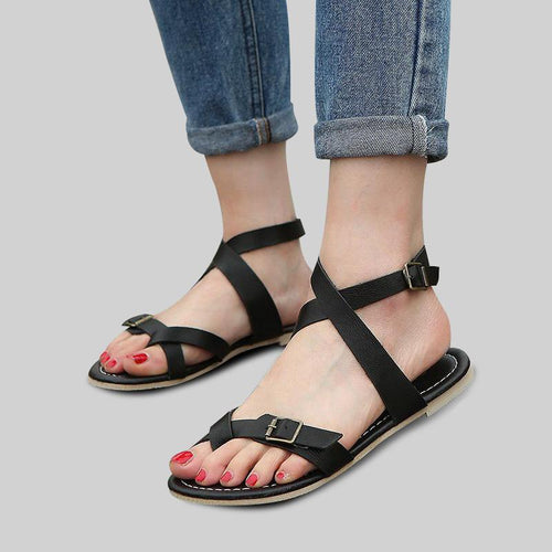 Thick Sole Ankle Strap Large Size Sandals