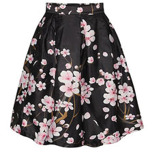 Load image into Gallery viewer, Vintage Floral Printed Swing Midi Skirt