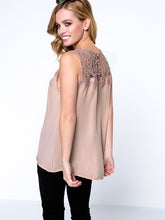 Load image into Gallery viewer, Sleeveless Patchwork Hollow Out Solid Blouse