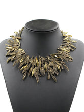 Load image into Gallery viewer, Metal Floral Bib Statement Necklace