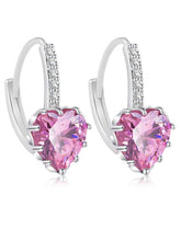 Load image into Gallery viewer, Pair Of Alloy Faux Crystal  Heart Earrings