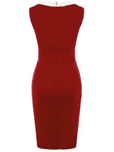 Load image into Gallery viewer, Classic Elegant Color Block Bodycon Dress