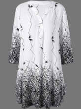 Load image into Gallery viewer, V-Neck  Abstract Print Blouses