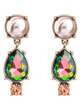 Load image into Gallery viewer, Chic Faux Pearl Crystal Drop Earrings