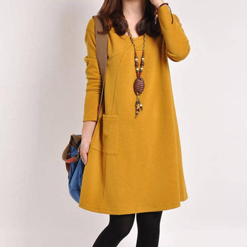 Ethnic Style Loose Casual Shift Dress