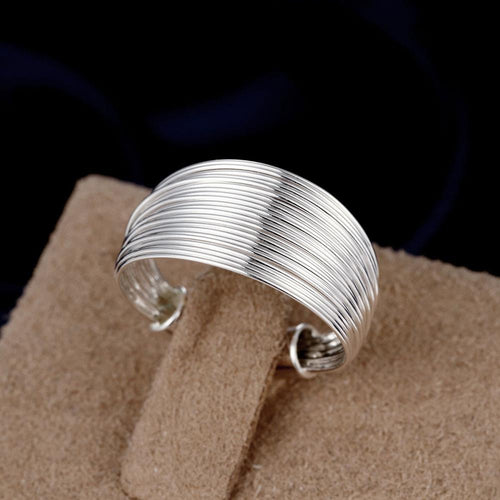 Adjustable Round Multi-Line Ring
