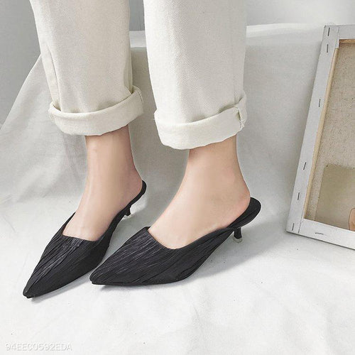 Fine Heel With Pointed Sexy Slippers