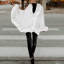 Load image into Gallery viewer, Knit Cardigan Cape Fur Shawl