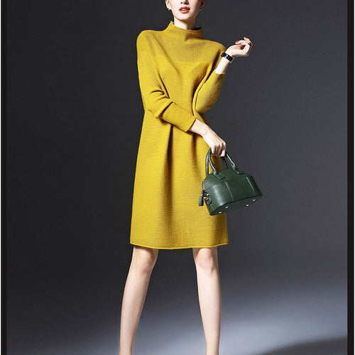 Casual Long Sleeve Loose Slim Knit Dress