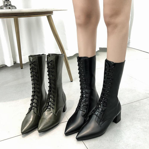 Chic Women's Boots With Lace Long Boots