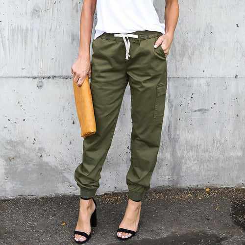 Fashion Loose Plain Casual Pants